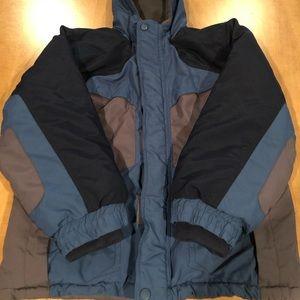 Boys Athletech Coat with Hood Blue